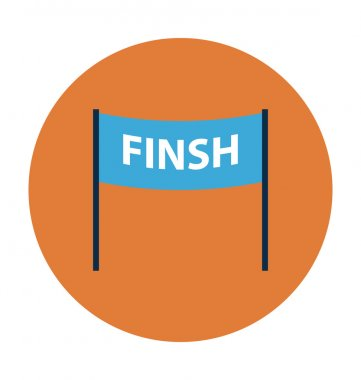 Finish Line Colored Vector Icon