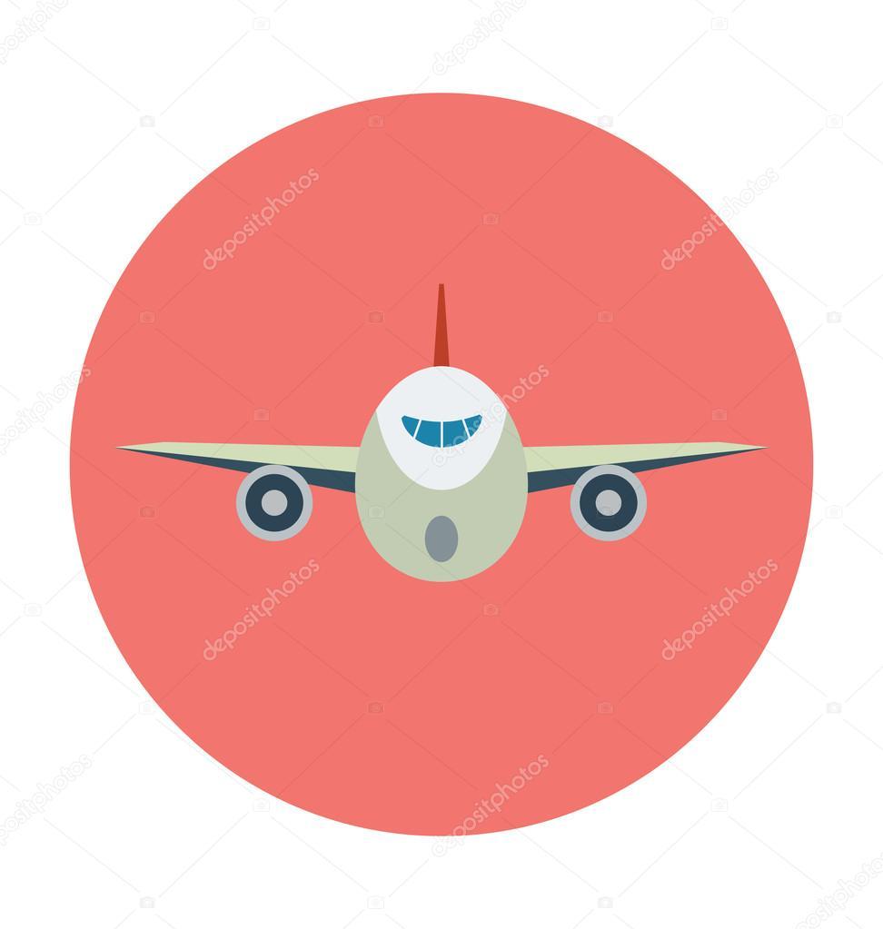 Avión color Vector icono — Vector de stock © creativestall #91362536
