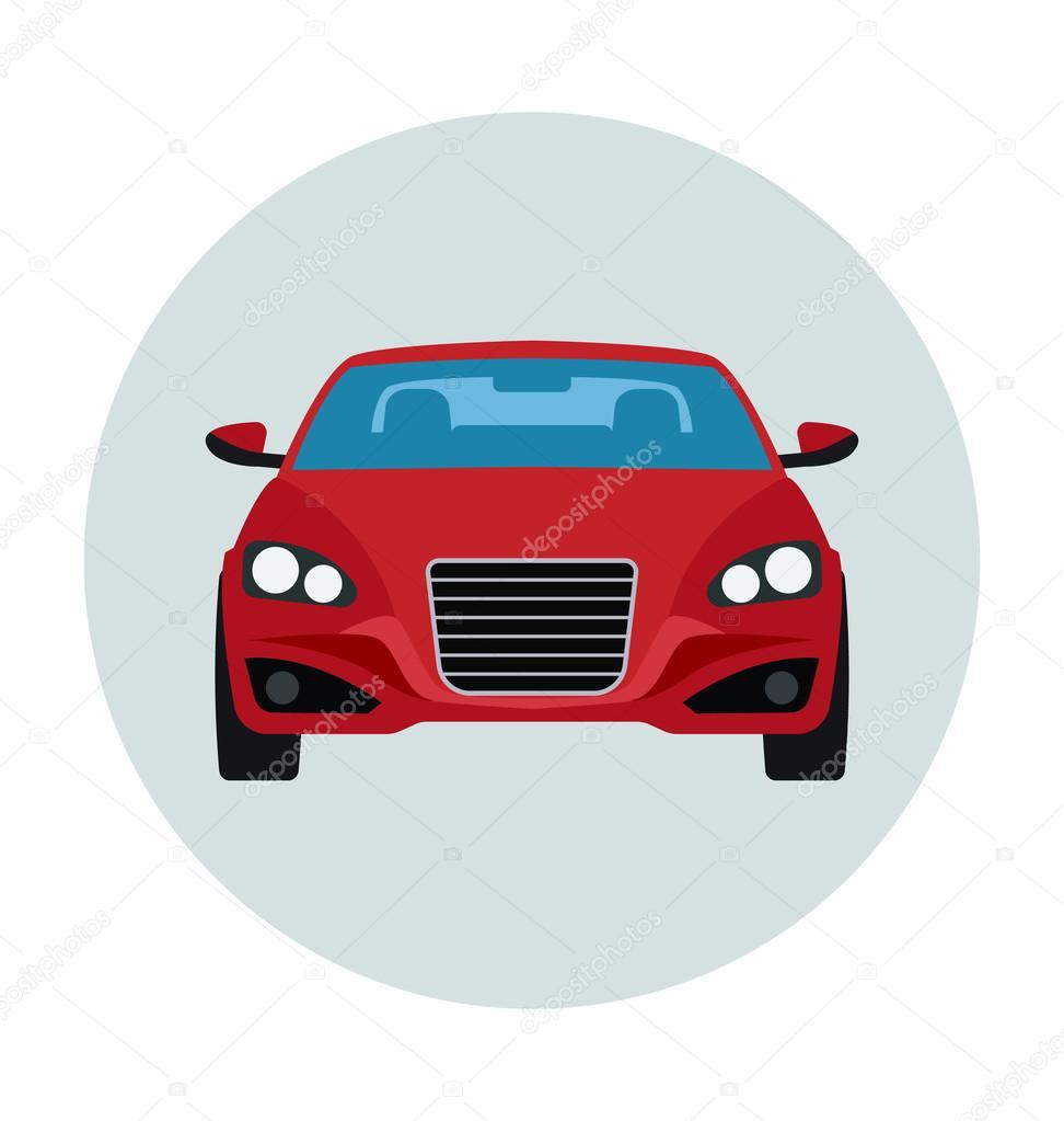 Luxury Car Colored Vector Icon Stock Vector C Creativestall 91362596
