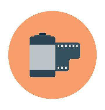 Camera Reel Colored Vector Icon