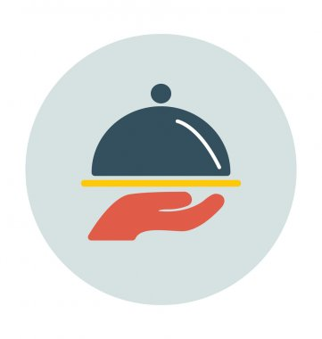 Serving Platter Colored Vector Icon