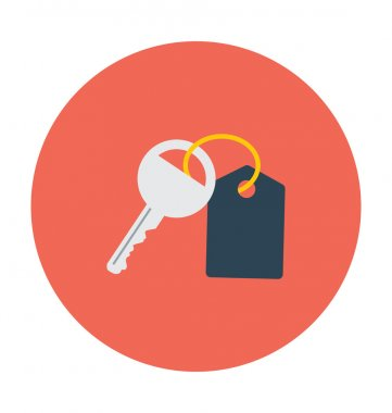 Key Colored Vector Icon