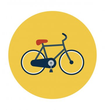 Cycle Colored Vector Icon
