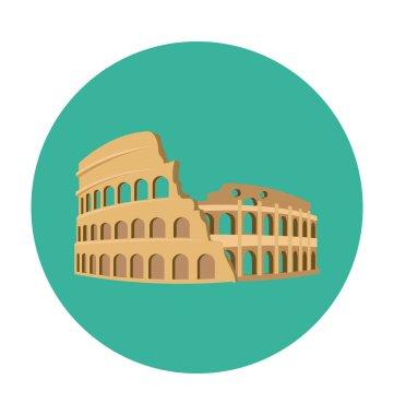 Colosseum Colored Vector Icon