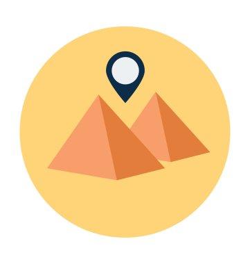 Egypt Pyramid Colored Vector Illustration