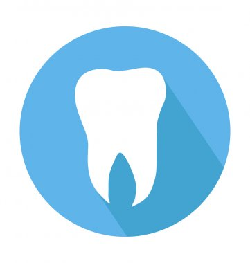 Tooth Colored Vector Icon