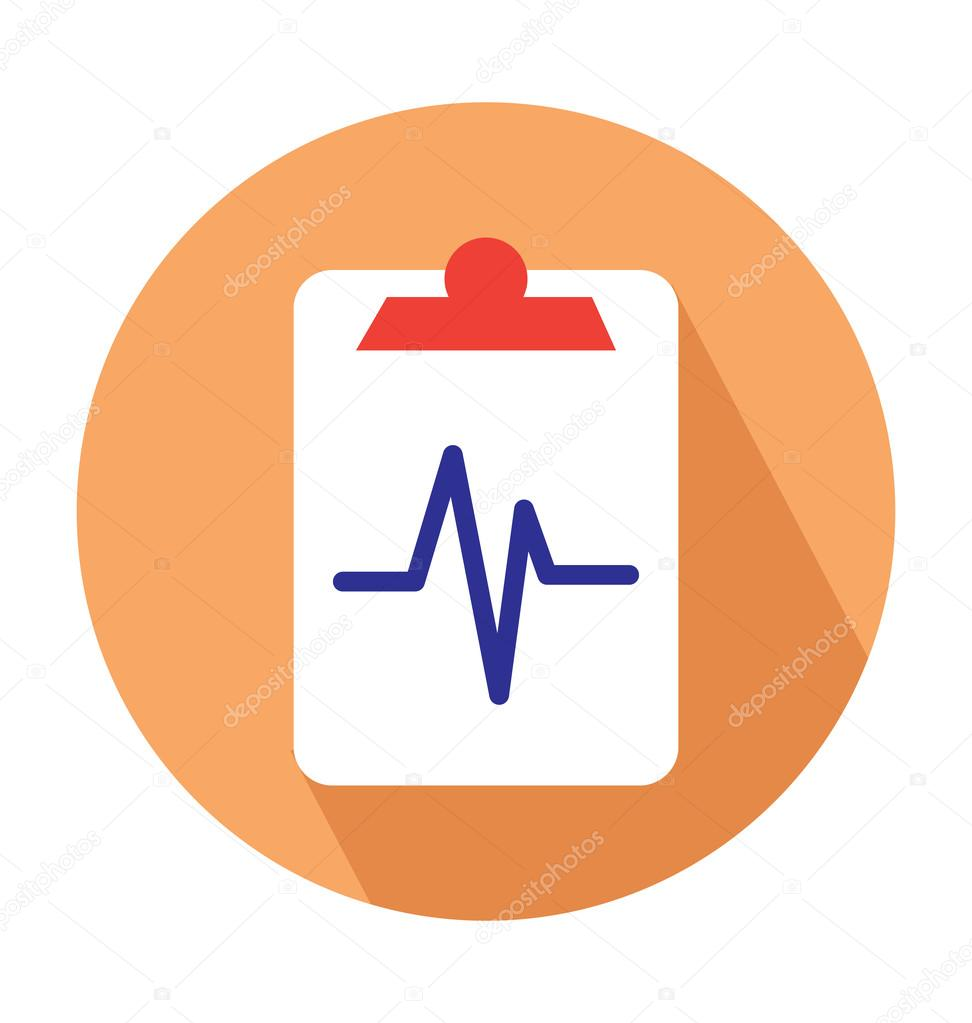 Medical Report Colored Vector Icon — Stock Vector ...