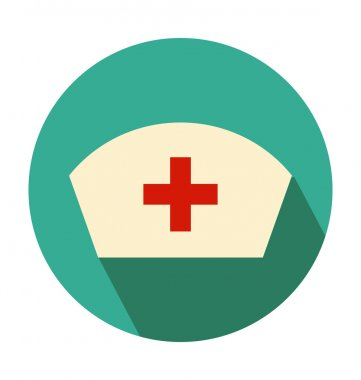 Nurse Hat Colored Vector Icon