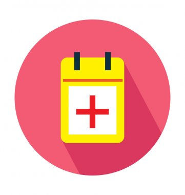 Medical Calendar Colored Vector Icon