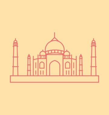 Taj Mahal Solid Vector Illustration