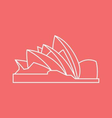 Opera House Solid Vector Illustration