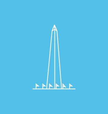 Washington Monument colored Vector Illustration