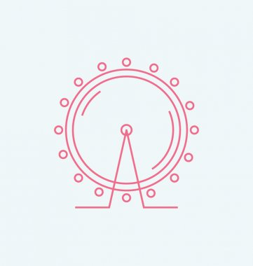 London Eye colored Vector Illustration