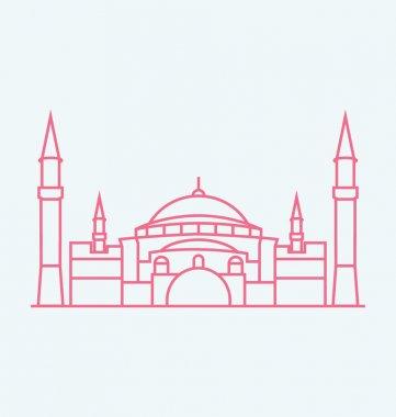 Hagia Sophia colored Vector Illustration