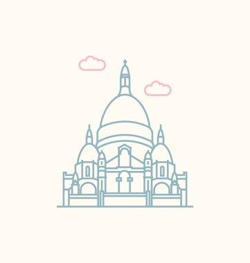 Sacre Coeur colored Vector Illustration