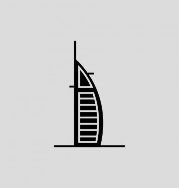 Burj Al Arab Solid Vector Illustration