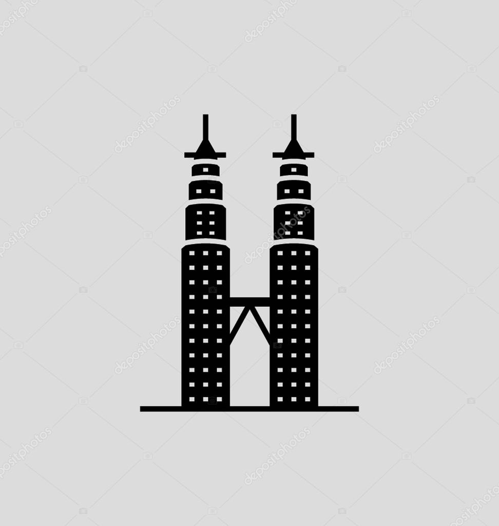 Petronas twin towers solid vector illustration stock vector petronas twin towers solid vector illustration stock vector buycottarizona Gallery