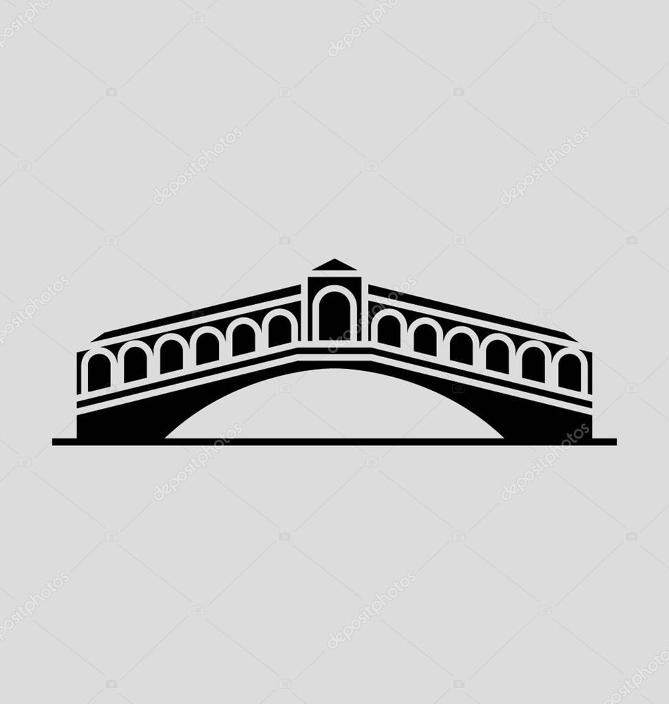 Ilustración de Vector sólido puente de Rialto — Archivo Imágenes ...
