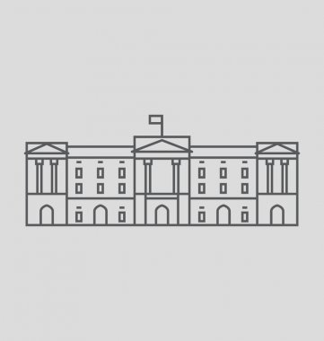 Buckingham Palace Solid Vector Illustration