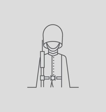 Queen's Guard Solid Vector Illustration