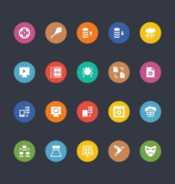 Glyphs Colored Vector Icons 29