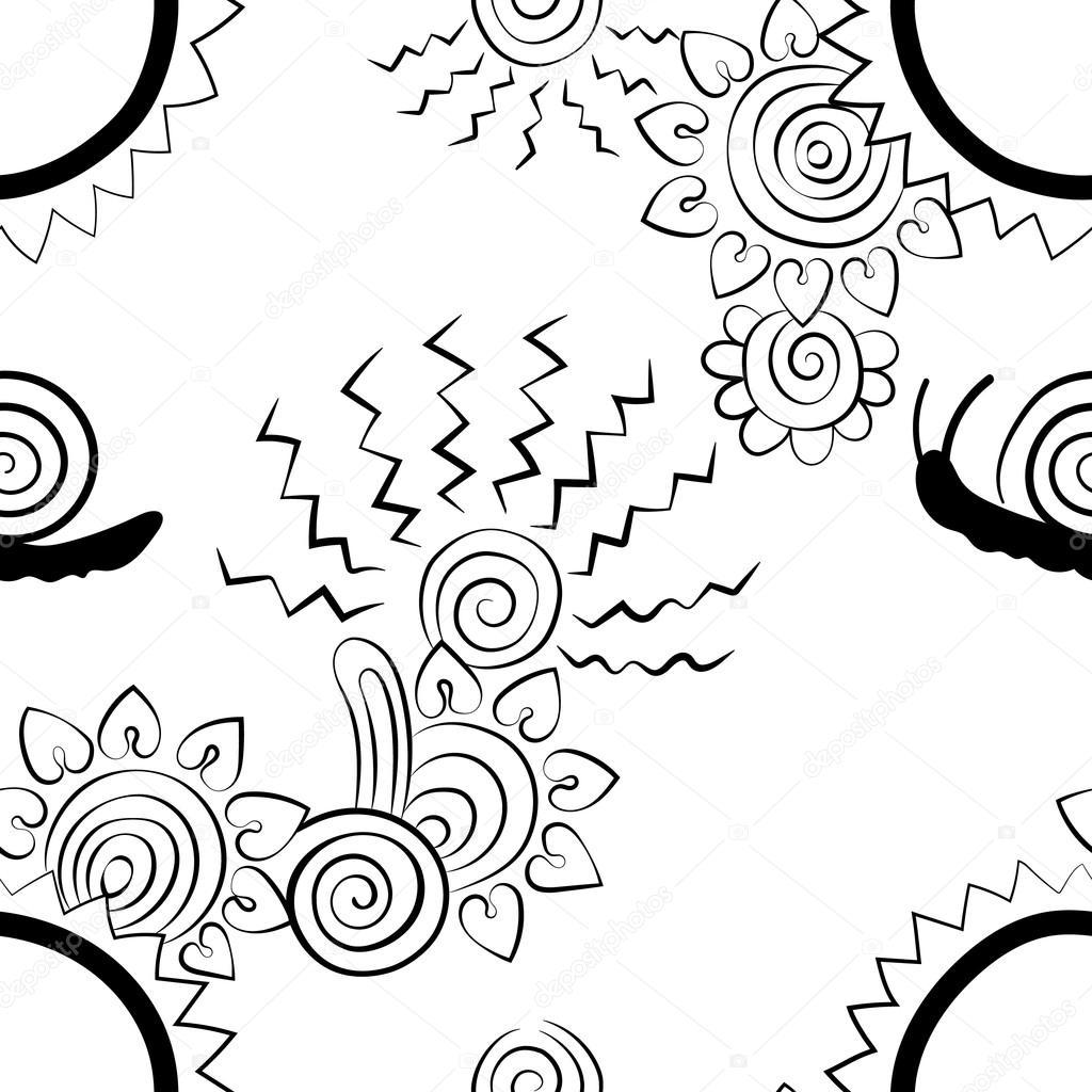 Hearts, flower, floral , zigzag lines, creative design