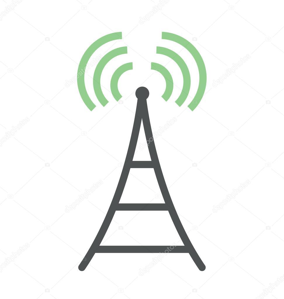WiFi-Turm Fett Abbildung — Stockvektor © creativestall #97428456