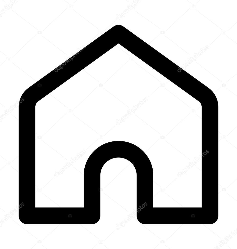 house bold line vector icon stock vector creativestall 98480088 rh depositphotos com 3d house icon vector house icon vector white