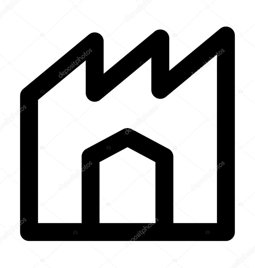Icono de Vector de línea industria — Vector de stock © creativestall ...