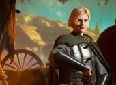 Elf Princess mit Schwert in Metall Rüstung