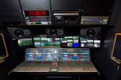Fotografie Remote control in a television studio recording.