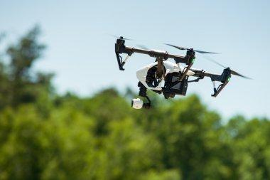 Quadrocopter drone in flight