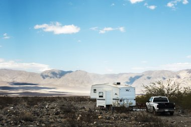 Mobile home at Death Valley