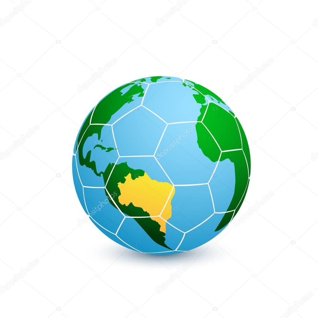Planeta ftbol archivo imgenes vectoriales deneategmail soccer ball with world map on it vector eps 10 illustration vector de deneategmail gumiabroncs Gallery