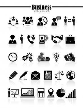 Business icons, management and human resources set.