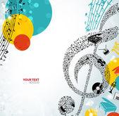 Fotografie barevné hudební pozadí