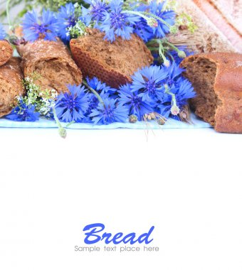 floral composition with bread