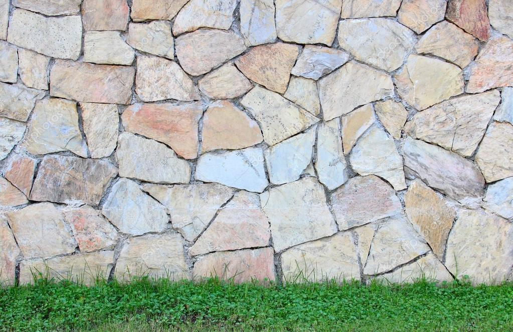 texture of stone and turf