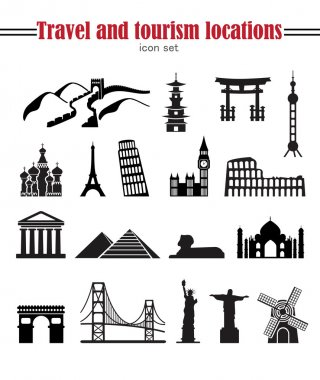 world landmarks travel set