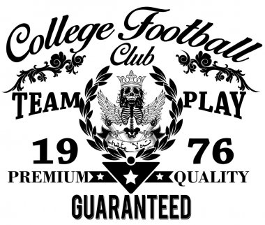 College graphics for t-shirt