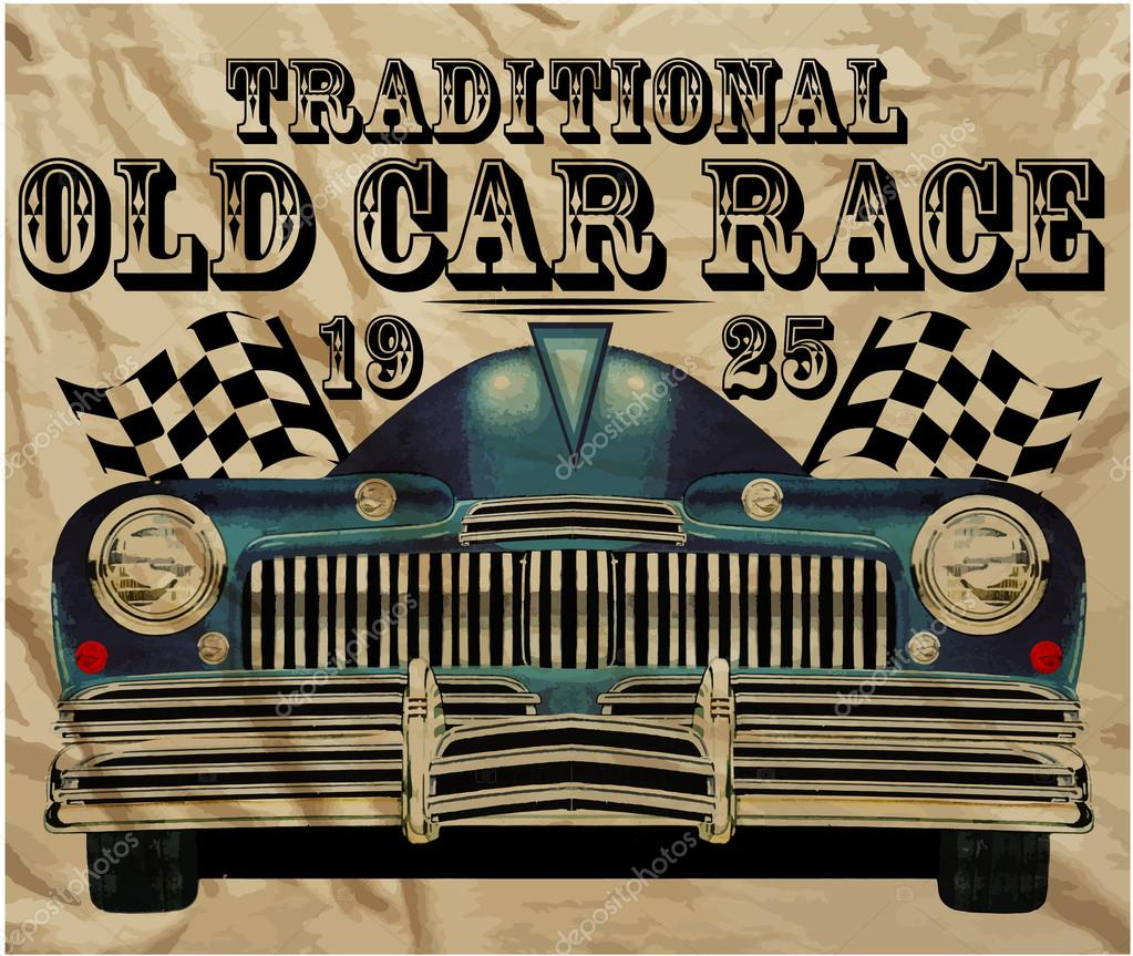 Old american car vintage classic retro man t shirt graphic for Scritte vintage