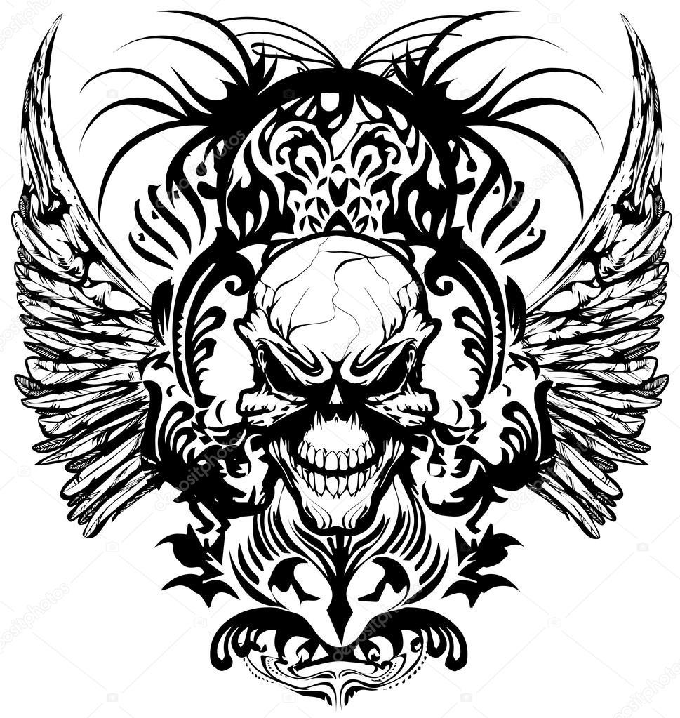 T shirt design download - Skull T Shirt Design Logos Vector Illustration Stock Vector 60391895
