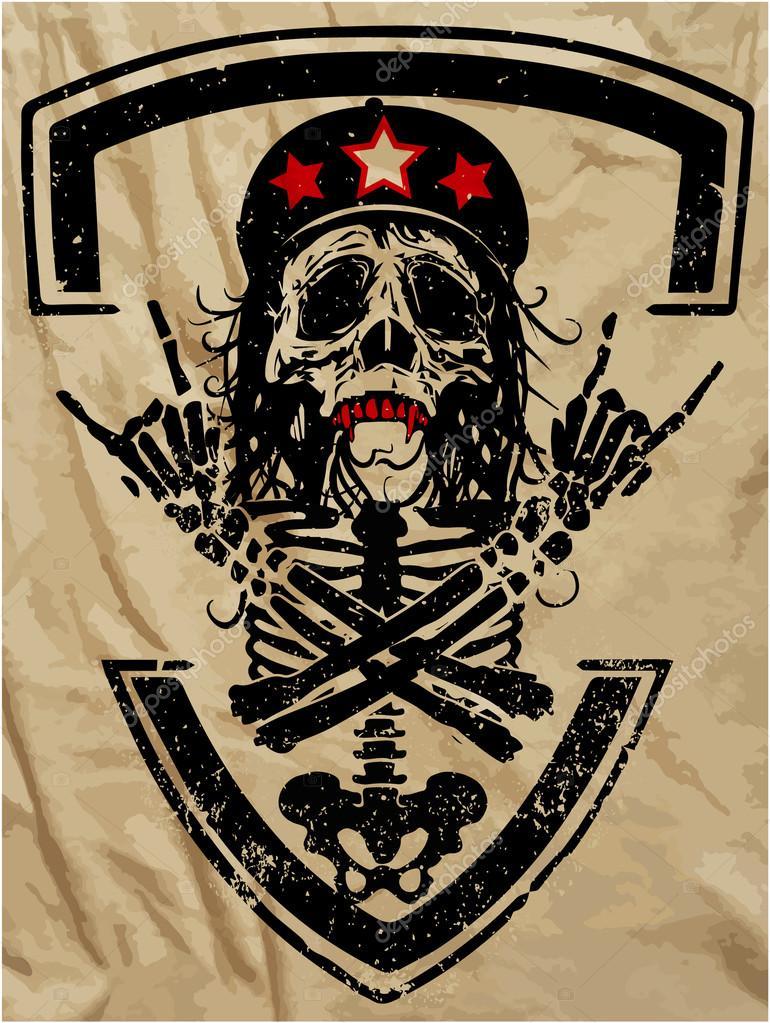 Череп и кости постер