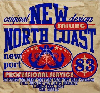 Sail Yacht Club Man T shirt Graphic Vector Design