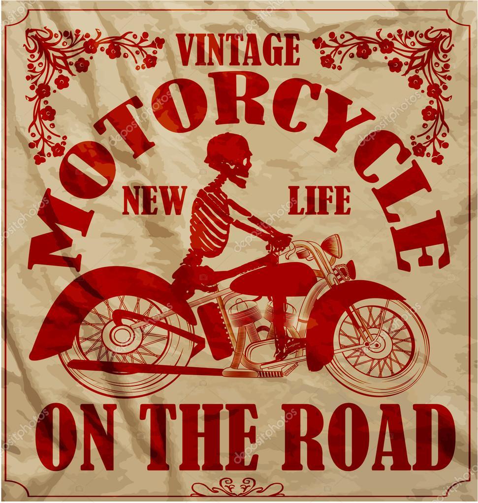 Design t shirt vintage - Vintage Race Motorcycle Retro Man T Shirt Graphic Design Stock Vector 62115801