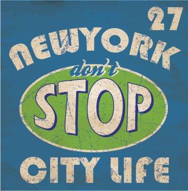 Newyork Stop Emblem Logo Graphic Design Athletic sport NYC typog