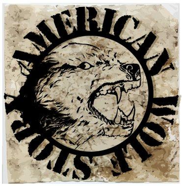American wolf T shirt graphic design