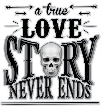 Typography skull t shirt graphic design