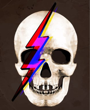 Tee Graphic  Illustration of Skull David Bowie