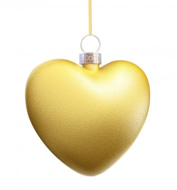 Gold Heart Christmas decorations